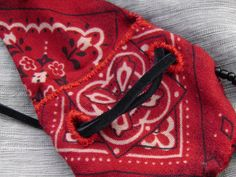 Hand Stitched Red Bandana Beaded Medicine Pouch by TheGypsyGarden