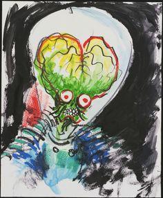 The art of Tim Burton :) Mars Attacks! Style Tim Burton, Art Tim Burton, Tim Burton Artwork, Tim Burton Drawings, Film Tim Burton, Mars Attacks, Beetlejuice, Aliens, Dark And Twisted