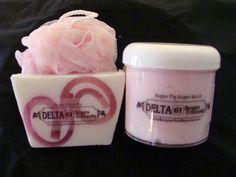 Delta Soaps & Scents Luxury Sugar Scrub Gift Set.  www.DeltaSoapsAndScents.com
