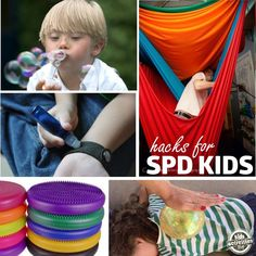 Some handy ideas for sensory processing disorder. Links to purchase or make the items.