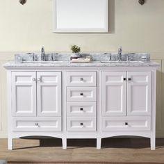 "Image result for Trumbull 60"" Double Sink Bathroom Vanity Set"