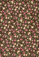 Tecido floral fundo marrom