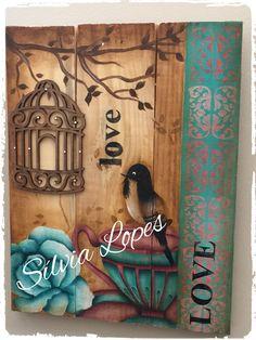 Placa birds & love