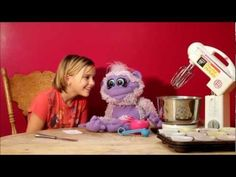 Bean the Monkey learns how to make birthday cake for kids!  A fun, educational Puppet series for kids