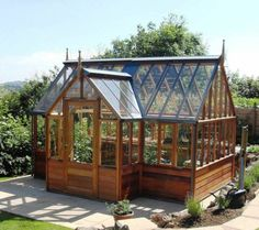 Wooden Greenhouse , Building An Outdoor Greenhouse In Landscaping And Outdoor Building Category