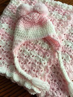 Craft Passions: Hat and blanket ..# free #Crochet  pattern link he...