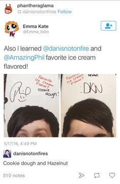 I'm glad they put in what they wrote because i literally cannot read Dan's writing