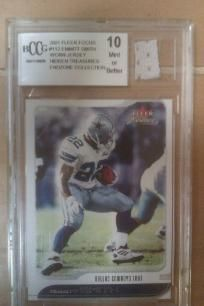 2001 Fleer Focus Emmitt Smith GU Jersey TriStar Hidden Treasures MNT-10 BCCG Grd. WOW Nice Look. Free Shipping
