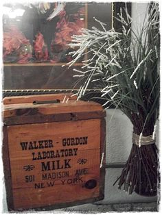 Wonderful old crate! - shared at the Knick of Time Tuesday Vintage Style Link Party
