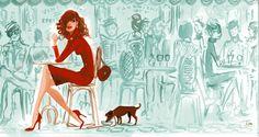 women in paris with their dogs and high heels  Izak Zenou-artist  Sharon Santoni