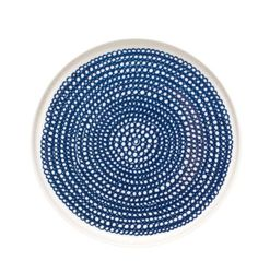 Marimekko Bord Blauw-Wit 20CM   Klevering