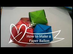 How to Make Paper Ballon - YouTube