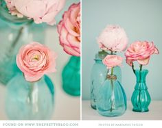 Chá turquesa e rosa
