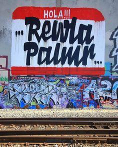 REWLA PALMR Photo by : @joe1974 _______________________ #madstylers #graffiti #graff  #style #graffporn #summer #sprayart #graffitiart