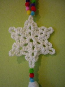 Crochet Snowflake made by alie Xmas 2014 loved it!