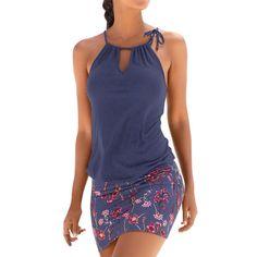 e938f1f4f7c Featured Fashion Womens Casual Sleeveless Retro Print Beach Mini Dress  Beach Dress