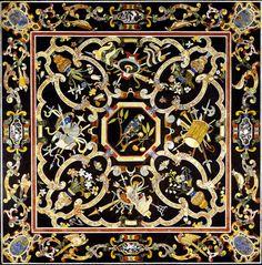 Орнамент барокко. Столешницы в технике флорентийской мозаики (PIETRA DURA)