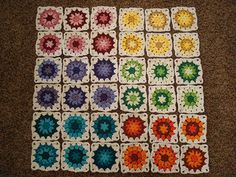 Ravelry: Project Gallery for Grandala Square pattern by Crochet with Raymond