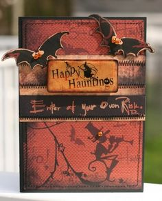 Happy Hauntings Card, by Dianedi