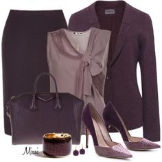 A fashion look from November 2013 featuring sheer top, wool jacket and navy blue skirt. Browse and shop related looks.