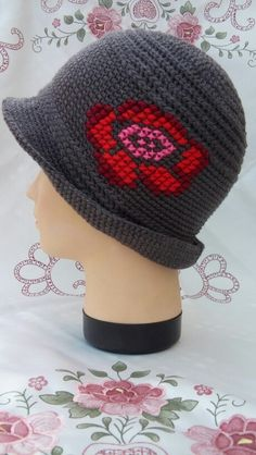 Cute and different crochet hat, no pattern (inspiration only) by Prnic Georgeta.