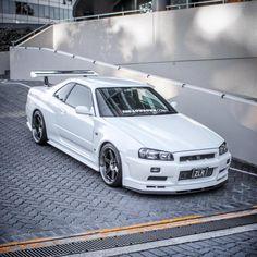 "Osman on Instagram: ""One day I'll be famous enough to meet 18k @grail.evo of 60k @stancenation fame 👑 #nissan #nismo #skyline #r34 #r34gtr #bnr34 #rb26 #gtr…"" Nissan Gtr R34, Nissan Skyline Gtr R32, R34 Gtr, Nissan Gtr Skyline, Tuner Cars, Jdm Cars, Japanese Sports Cars, Funny Car Memes, Japan Cars"