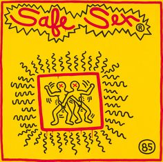 Whitney Museum of American Art: Keith Haring: Safe Sex Keith Haring Poster, Keith Haring Prints, Keith Haring Art, Warhol Paintings, Keith Allen, World Aids Day, Acid House, Principles Of Art, Sex And Love