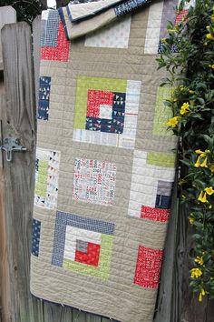Quilt Story: Tanner Reunion modern quilt from a maidenhair fern