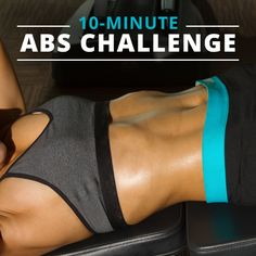 Take the 10 Minute Flat Abs Challenge. You'll be glad you did!!! #flatabs #absworkout #workoutchallenges