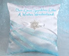 Our Love Sparkles Like A Winter Wonderland by SewDelightfulPillows