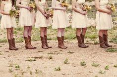 Botas texanas para las damas de honor!