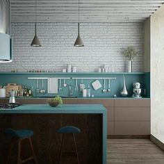 Azul Tiffany, Turquoise, Grey And White, Kitchen, Table, Furniture, Haikyuu, House Ideas, Container