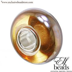 Elfbeads G140060 Gold Oil Glass Bead