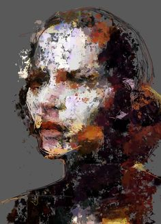 New media artist, Sergio Albiac, uses traditional media and generative computer code to create amazing art like this portrait: Ana - Procedural brush