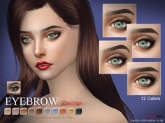 Eyebrows for female, 12 colors, enjoy, thank you Found in TSR Category 'Sims 4 Facial Hair'