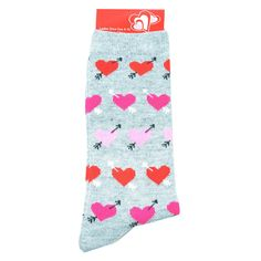 Womens Socks | Feb. 14 Womens Hearts Crew Socks | Shopko.com