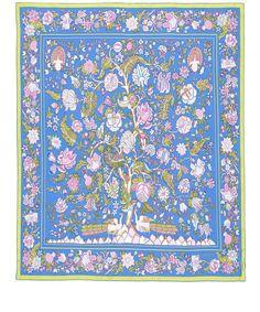 Liberty London Blue Tree of Life Silk Scarf | Silk Scarves by Liberty London | Liberty.co.uk