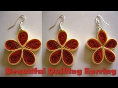 Art & Craft: How to make Beautiful Quilling Earrings Using  Paper Quilling -Quilling Made Easy