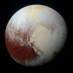 Every time we see this photo it's awe-inspiring.  Pluto is - at its closest - 4.28 billion kilometres away from us. We found it in 1930, made it a planet, demoted it, and in 2015 snapped this photo, finding Pluto's heart. ♥️   : NASA/Johns Hopkins University APL/Southwest Research Institute