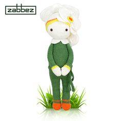 Crochet pattern amigurumi doll Orchid Ollie PDF от Zabbez на Etsy