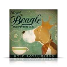 Regal Beagle Coffee company vintage style graphic by geministudio, $39.00