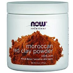 100% Pure Facial Detox/Sensitive Skin Types Condition: Sensitive Skin in need of detoxification to remove impurities and in need of a smaller pore size and tighter skin tone. Solution: Moroccan Red Clay is an all-natural powder clay that is highly absorbent and mixes easily with water and other moisturizing products. | eBay!