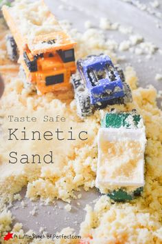 Sensory Play: Taste Safe Kinetic Sand Recipe | A Little Pinch of Perfect