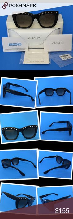 💥NEW Authentic Valentino V716S Cat Eye Sunglasses Make your fashion statement with these Rockstud Brand New Authentic Women's VALENTINO sunglasses V716S in black   Made In Italy   A quality acetate frame manufactured in Italy with 100% UVA and UVB Protection.  Includes storage case, cleaning cloth and card of authenticity packed in a beautifull Valentino gift box  Lens Width: 51mm Bridge Width: 21mm Temple Length: 140mm  100% Authenticity guaranteed or Money back Imported from Europe WHEN…
