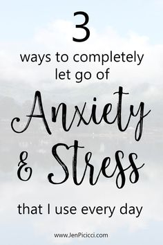 From my own experience with anxiety I've developed some fast and easy ways to feel better fast. Find out how. www.JenPicicci.com  #anxiety #stress #overcomeanxiety #jenpicicci