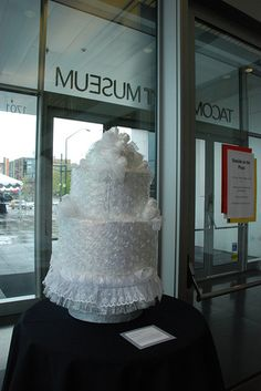Bubble wrap wedding cake.