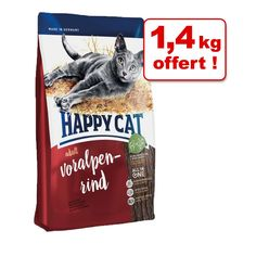 Animalerie  Croquettes Happy Cat 10 kg  14 kg offert !  Adult agneau des pâturages