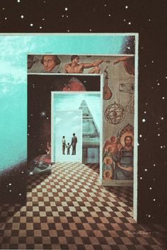 Solong-2. Surreal Mixed Media Collage Art By Ayham Jabr.