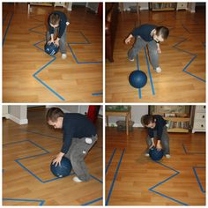 proprioceptive sensory seeking ball line rolling