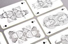 WHIMSICAL PLAYING CARDS by Oksal Yesilok, via Behance